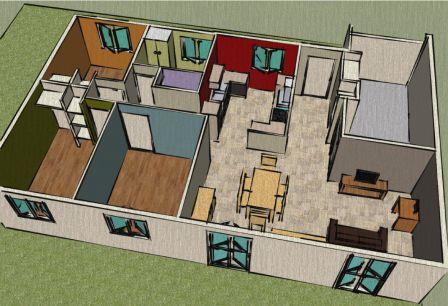 Ma maison enchain e google sketchup j 39 aurais peut tre for Sketchup plan maison
