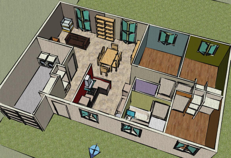 plan de maison google sketchup. Black Bedroom Furniture Sets. Home Design Ideas